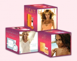 Faith Hill, Halle Berry & Beyonce Display Cubes