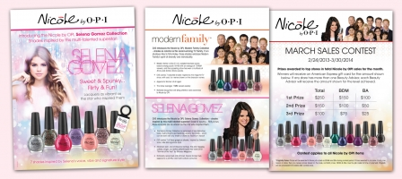 Nicole by OPI Easel Card, Beauty Advisor Sell Sheet & Sales Contest