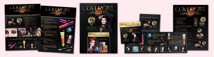 CoverGirl Hunger Games Brochure Holder Display