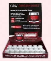 Olay Mini Jar Sample Display