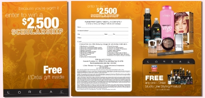 L'Oreal Scholarship Entry and Discount Card