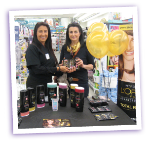 In-store sampling event